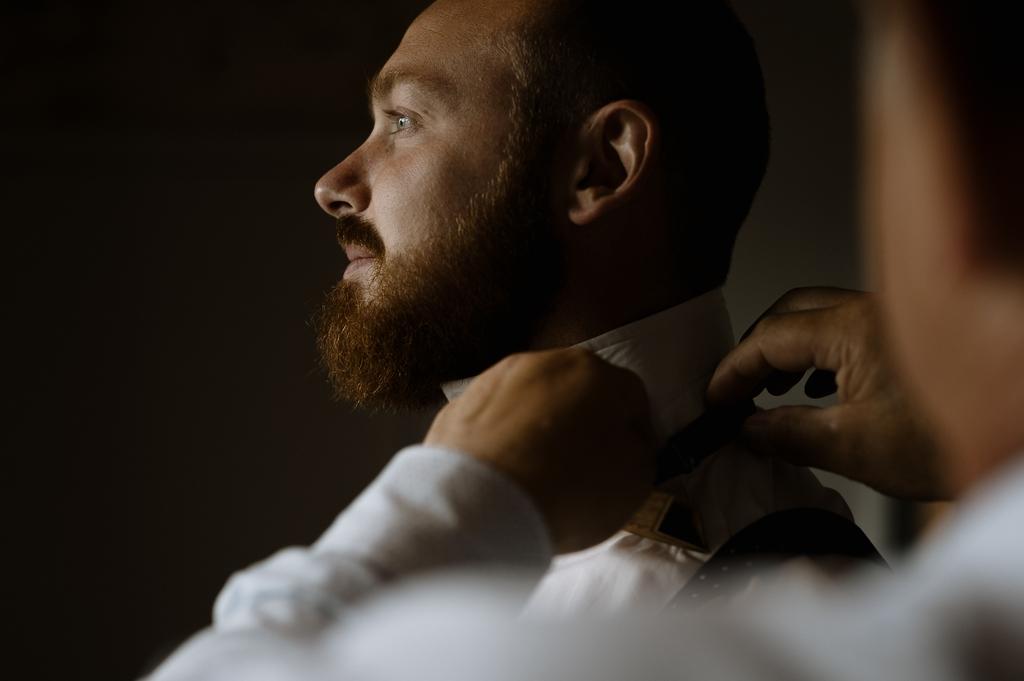 préparatifs Amaury chemise lumière diffuse