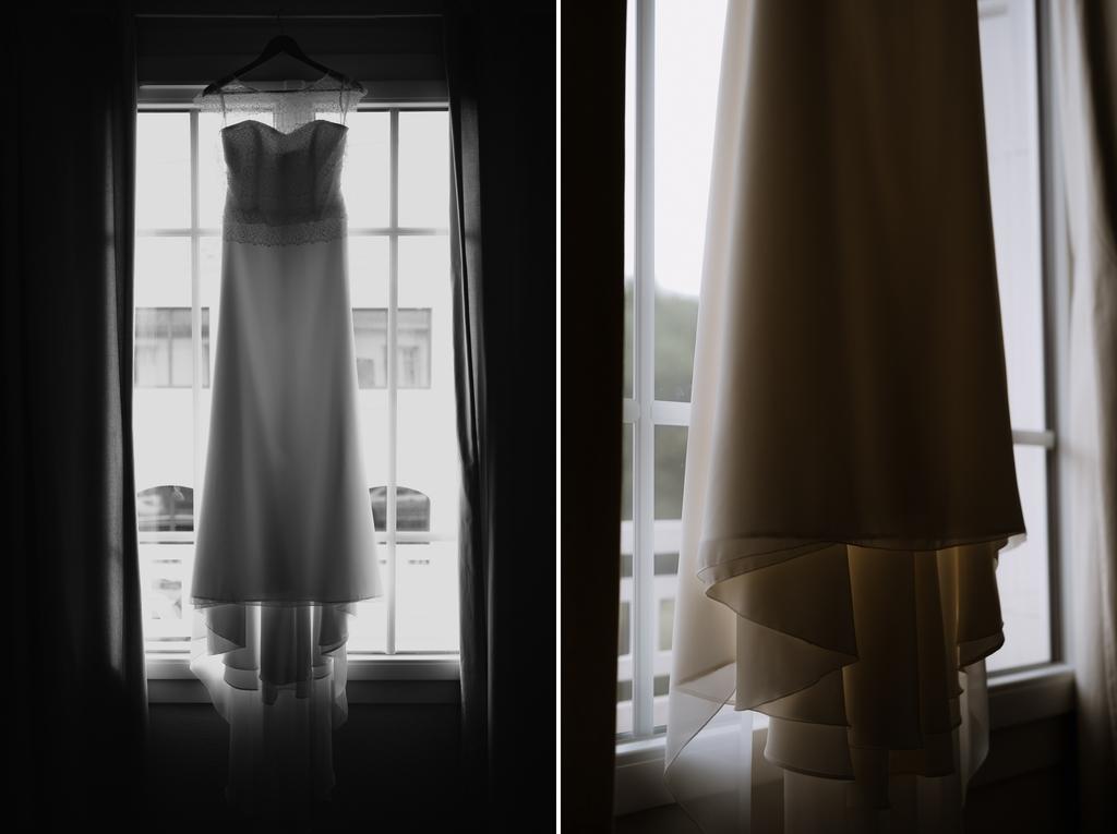 préoaratifs getting ready bride robe de mariée wedding dress fenêtre mariage Moinardière Vendée