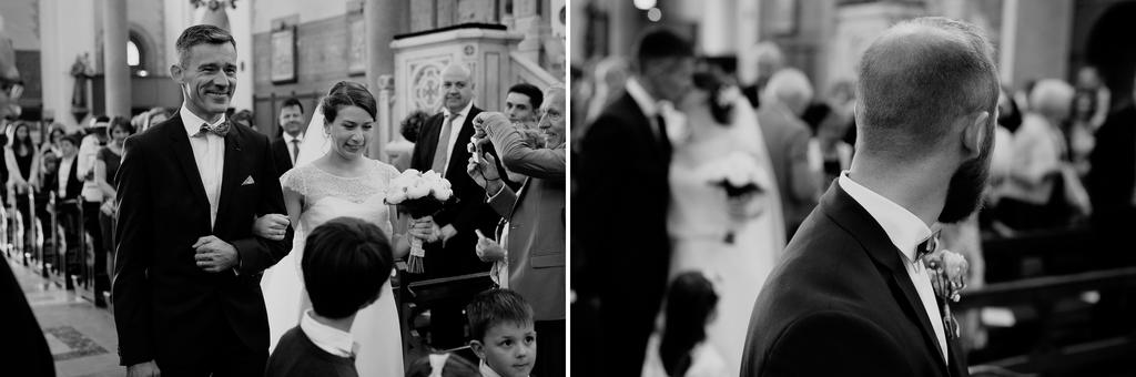 allée église mariage mariée papa bras