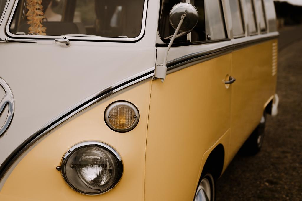 combi volkswagen blanc jaune mariage