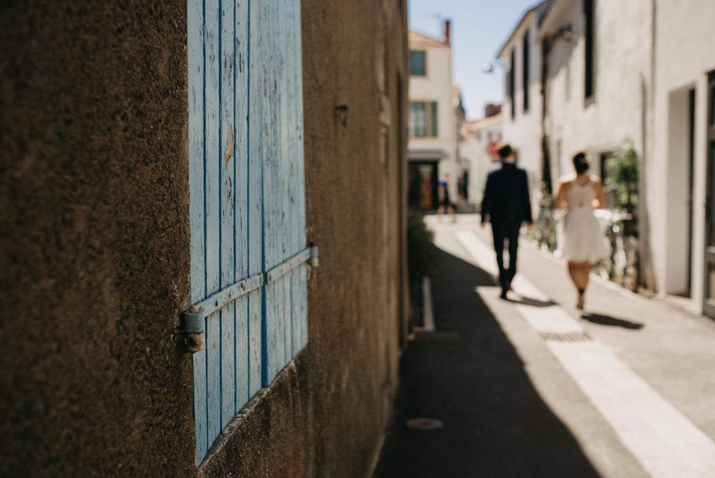volet Noirmoutier séance couple rue