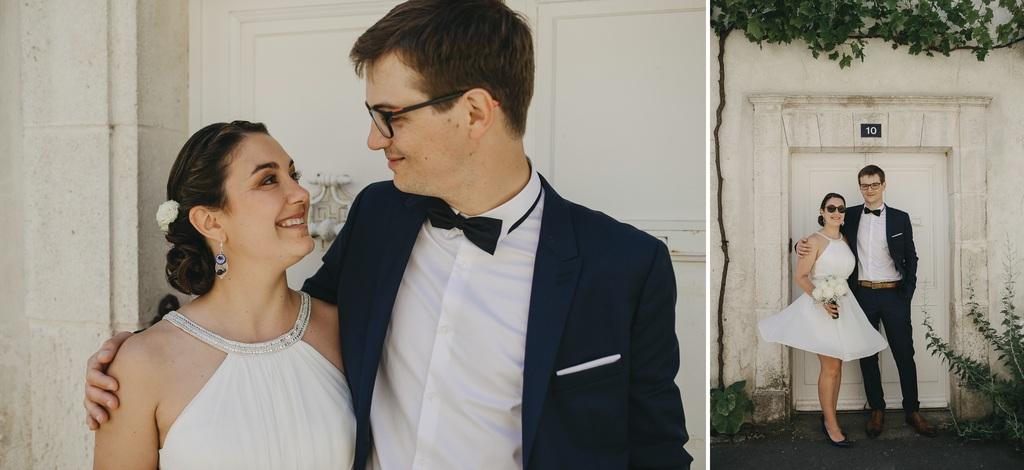 Vent robe mariée porte Noirmoutier vigne regard