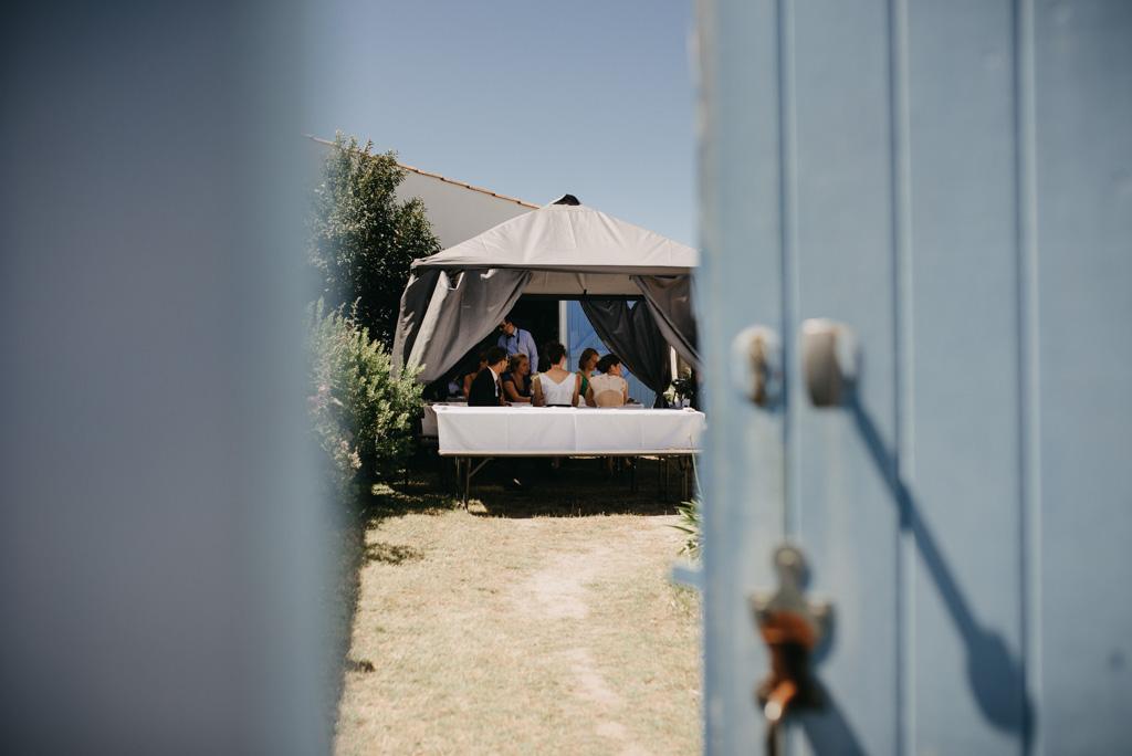 porte bleue Noirmoutier maison repas mariage