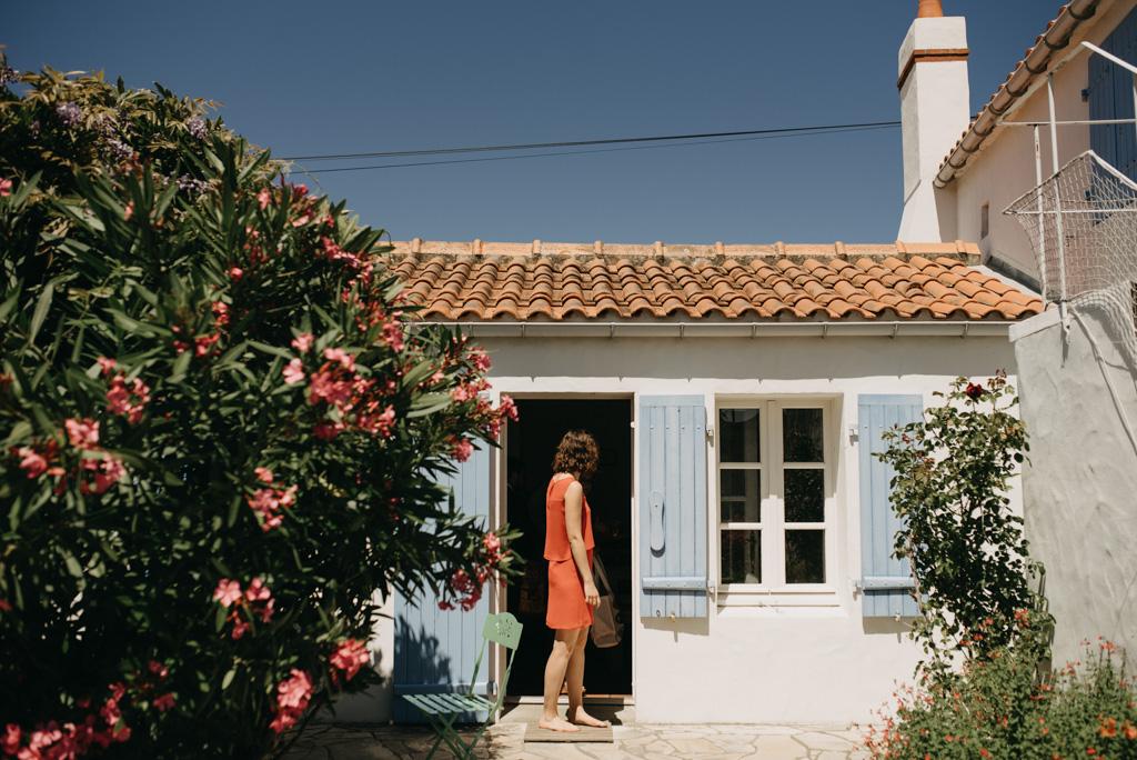 maison Noirmoutier mariage ciel bleu