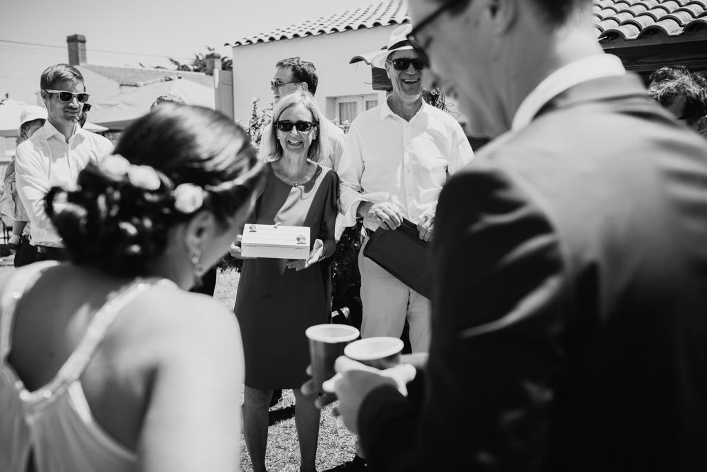 parents cadeau noir et blanc mariés