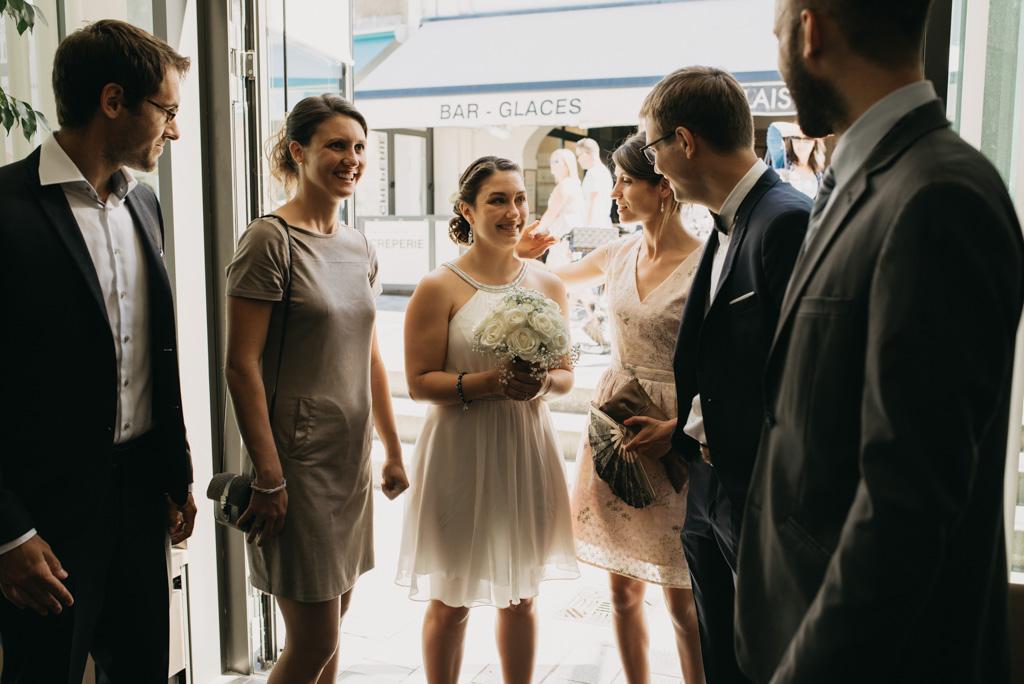 mariage Noirmouier mariée bouquet entrée