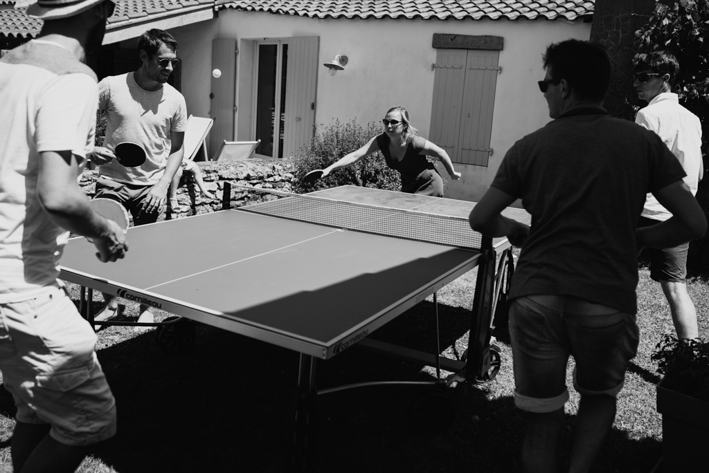 ping pong noir et blanc
