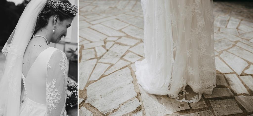 robe dentelle mariée couronne fleurs