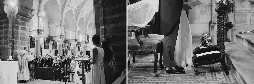 fauteuil mariage église noir blanc église