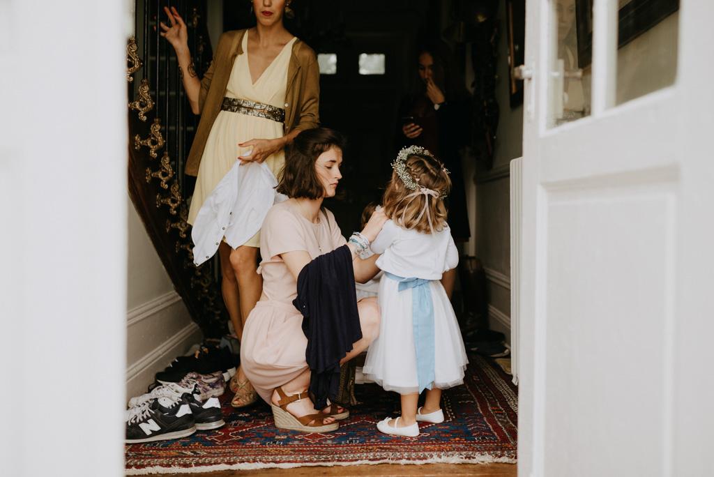 préparatifs mariage Mayenne château demoiselle d'honneur