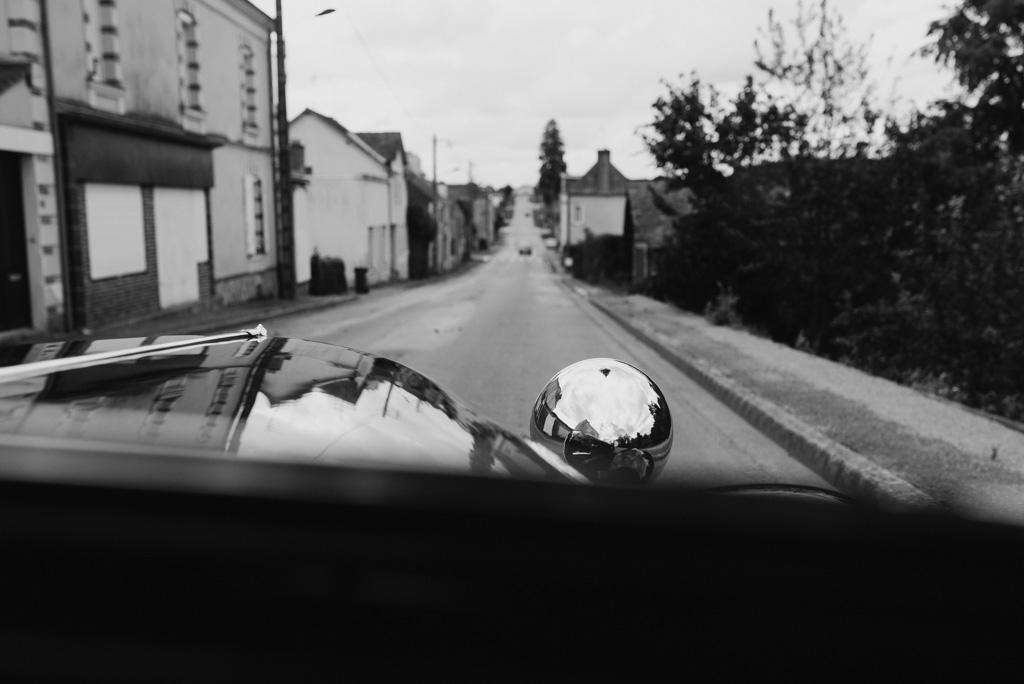 voiture mariage noir et blanc