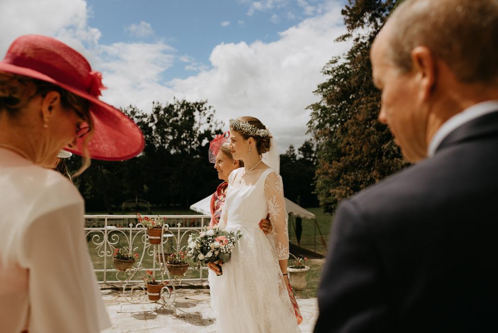 mariée famille robe ciel bleu