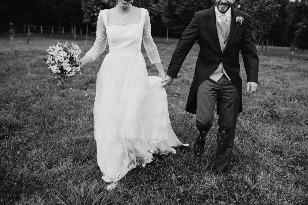 balade parc château robe mariée bouquet