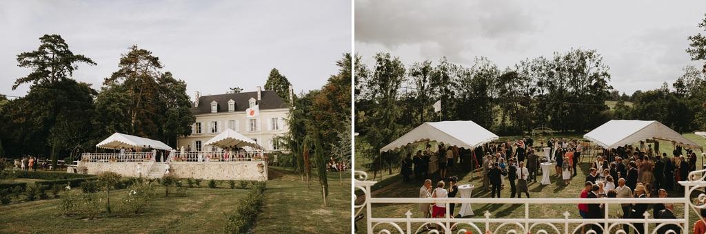cocktail mariage château invités