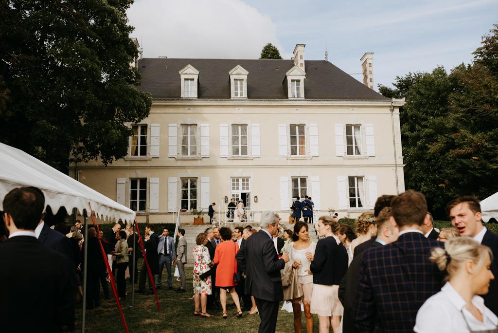 cocktail invités mariage château