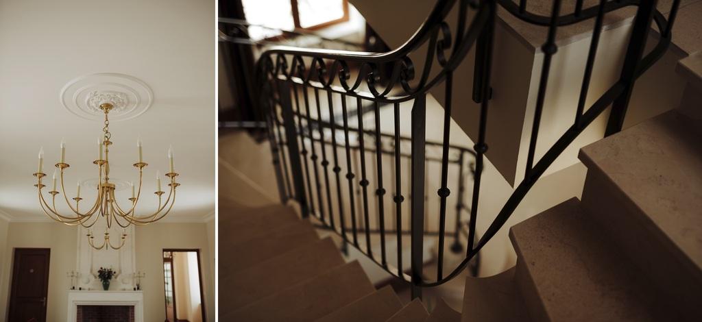 lustre château sébrandière rambarde escalier