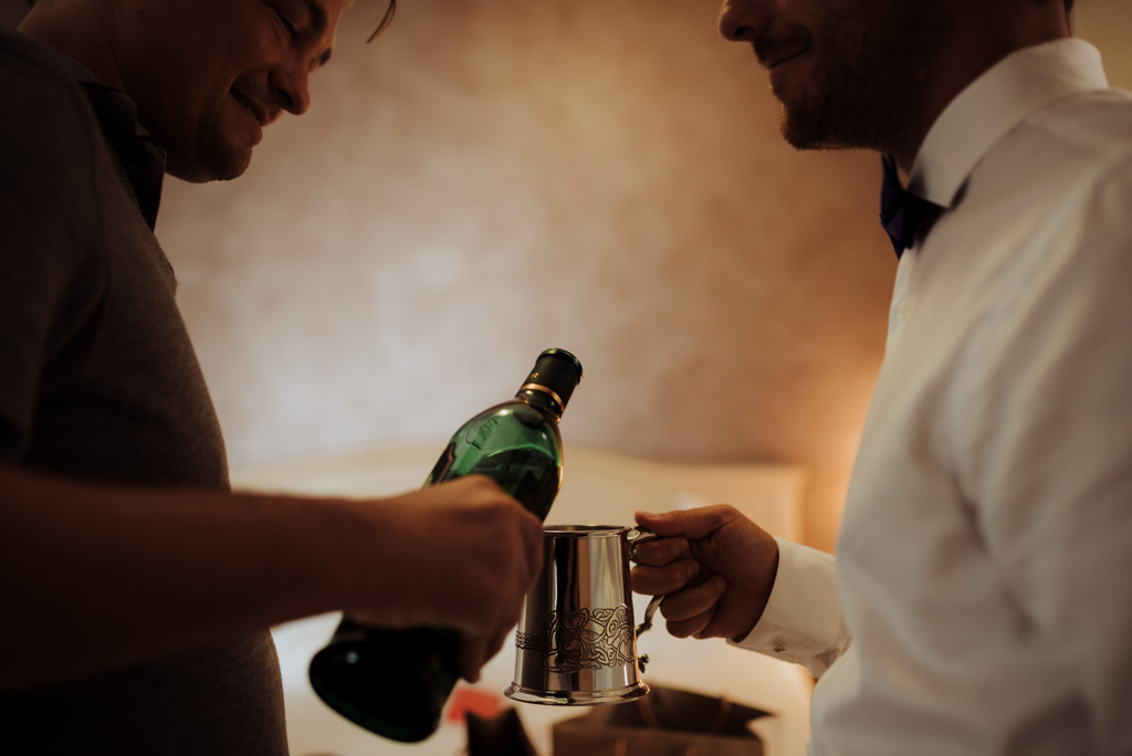 chope whisky partage service mariage préparatifs