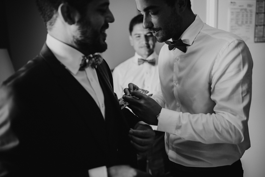 mise en place pochette costume témoin marié