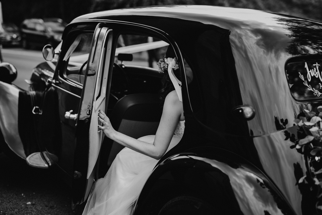 Mariage Vendée Sébrandière traction citroën arrivée mariée
