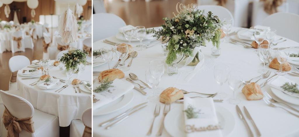 tables décoration réception