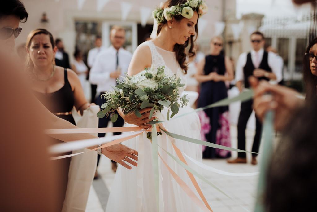 bouquet rubans cocktail
