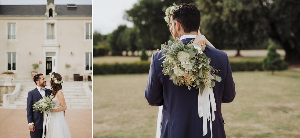 photos couple séance parc château bouquet