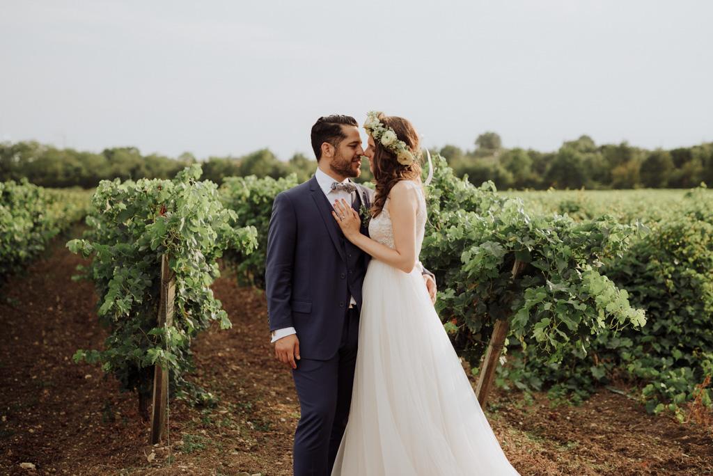 séance couple vigne château mariage vendée
