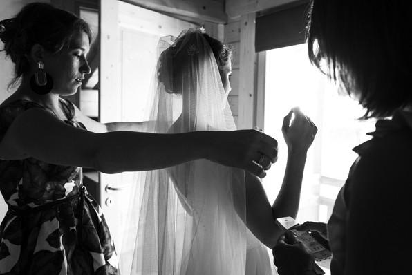 voile mariée témoins préparatifs robe
