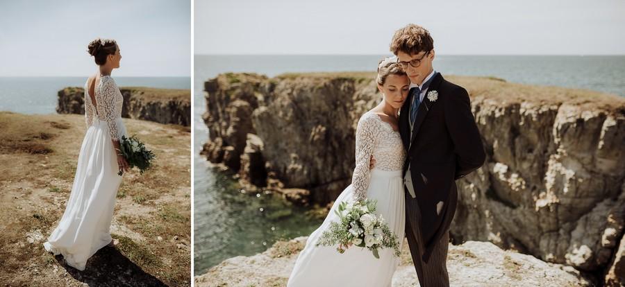 robe mariée Le Pouliguen bouquet côte Pouliguen
