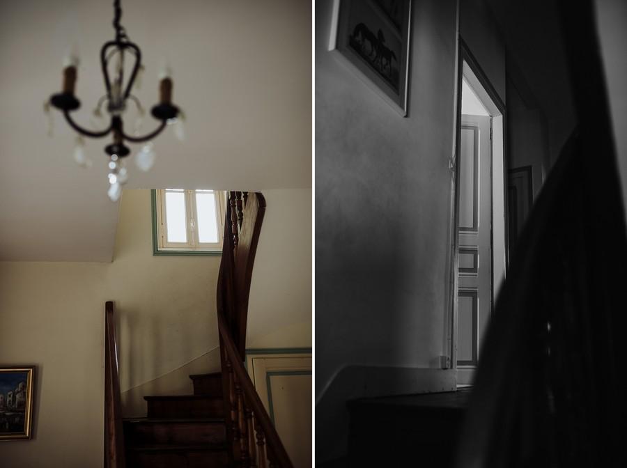 escalier porte bois lustre préparatifs mariage