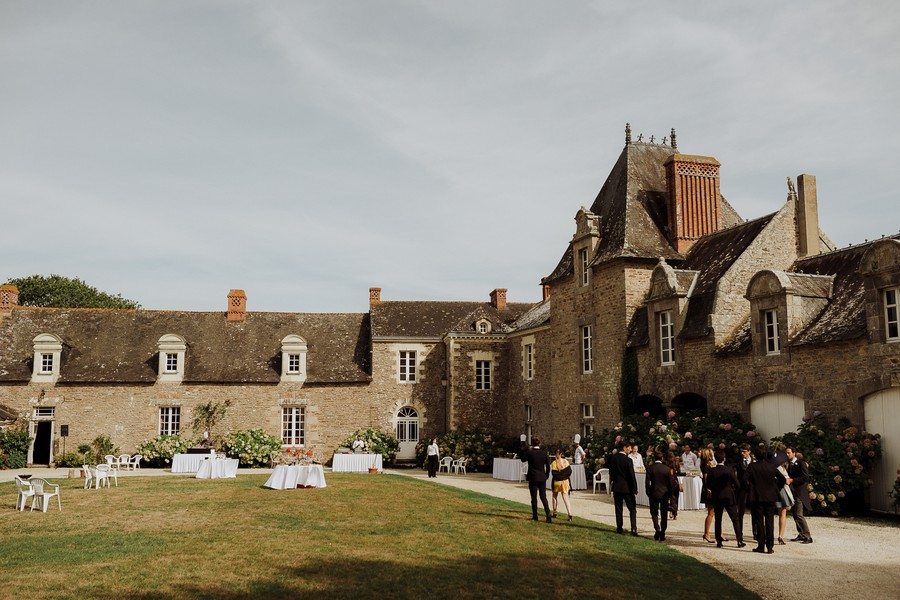 Assérac manoir de Kérougas jardin cocktail mariages