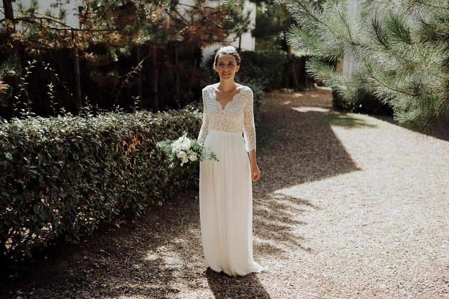mariée first look découverte parc jardin