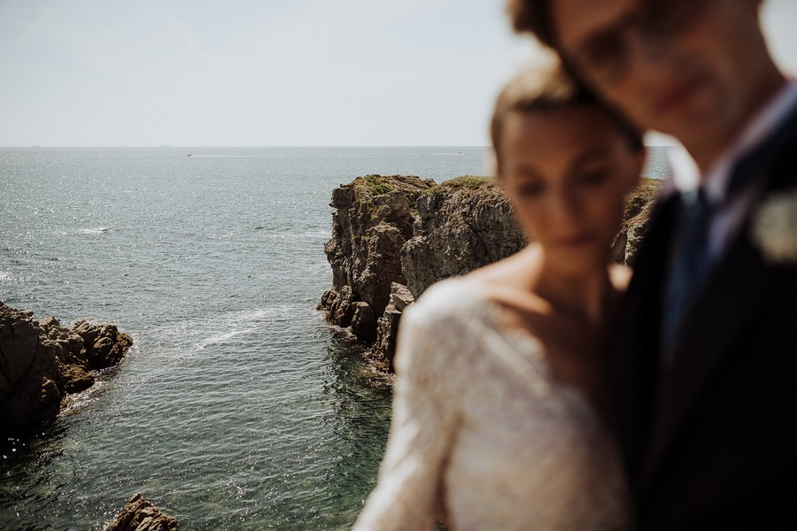 rochers mer Le Pouliguen mariés