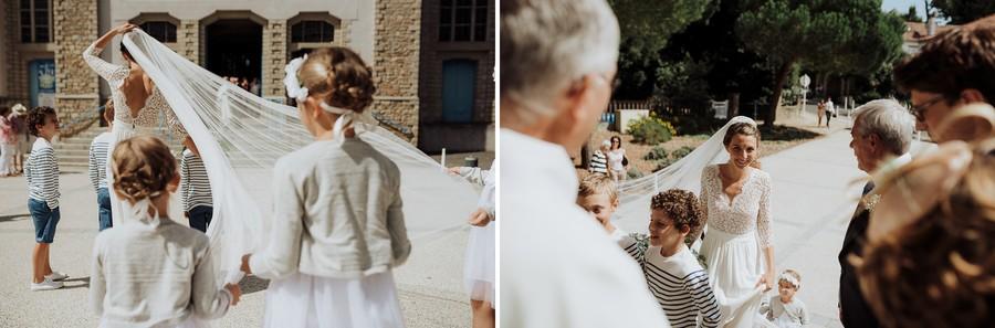 voile mariée vent enfants