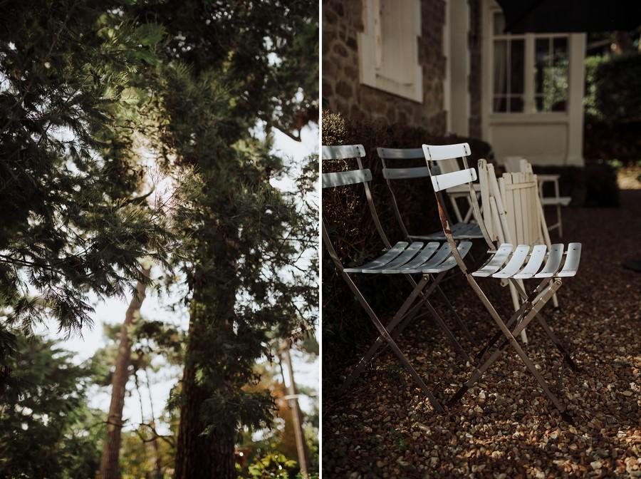 soleil arbre chaises maison mariage loire-atlantique