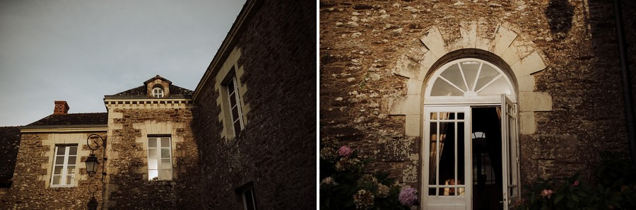 lumière fin de journée Kerougas mur en pierre