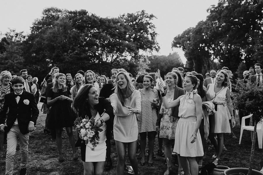 bouquet mariée attrapée mariage