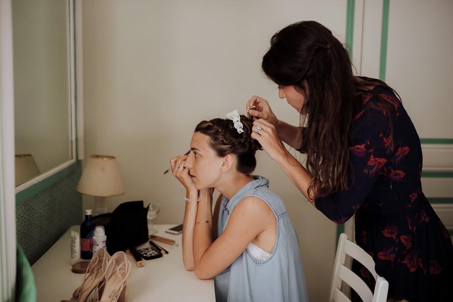maquillage mariée témoin coiffure