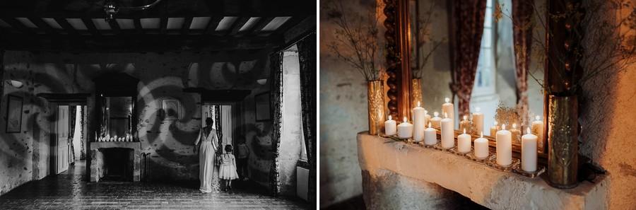 salle Kerougas bougies cheminée