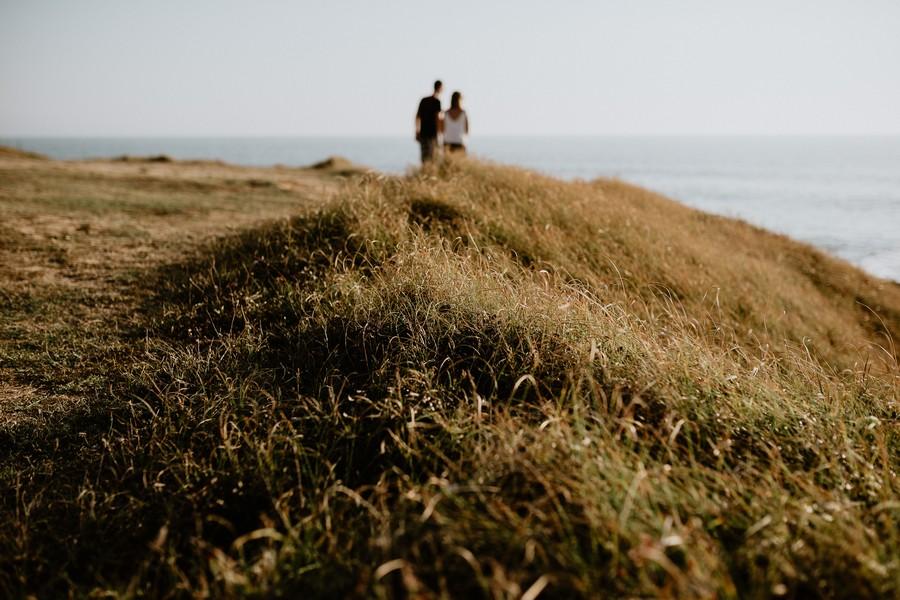 Cayola séance engagement paysage couple soleil