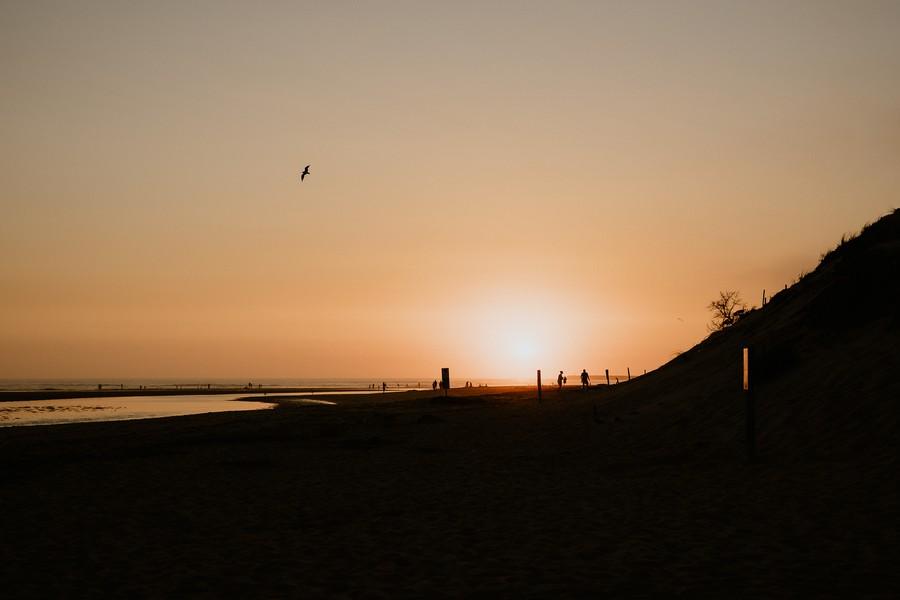coucher soleil Veillon oiseau ombres