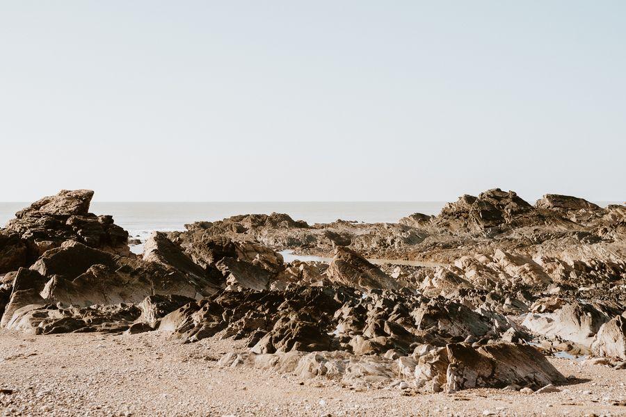 rochers Cayola mer ciel séance engagement photographie