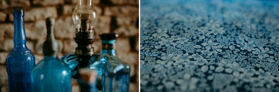 bouteilles bleues lampe drap bleu liberty défi coronavirus confinement covid-19