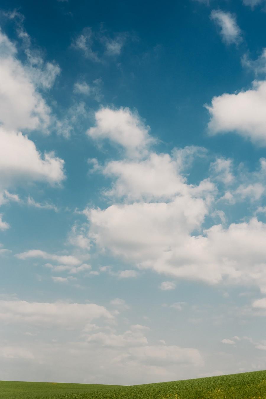 paysage horizon vert bleu ciel champ défi coronavirus confinement covid-19