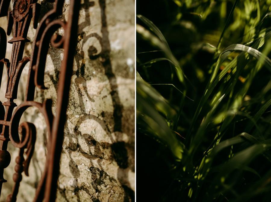 ombre lumière herbe grille fer forgé défi confinement