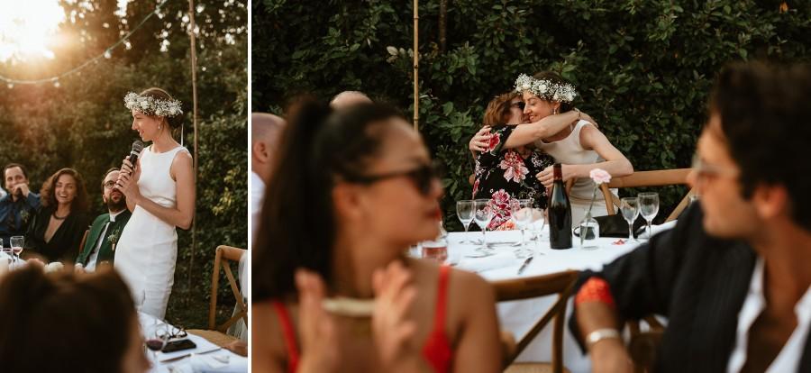 discours mariée félicitations embrassade invités famille