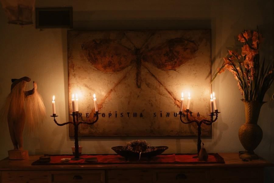 bougies allumées salon mariage
