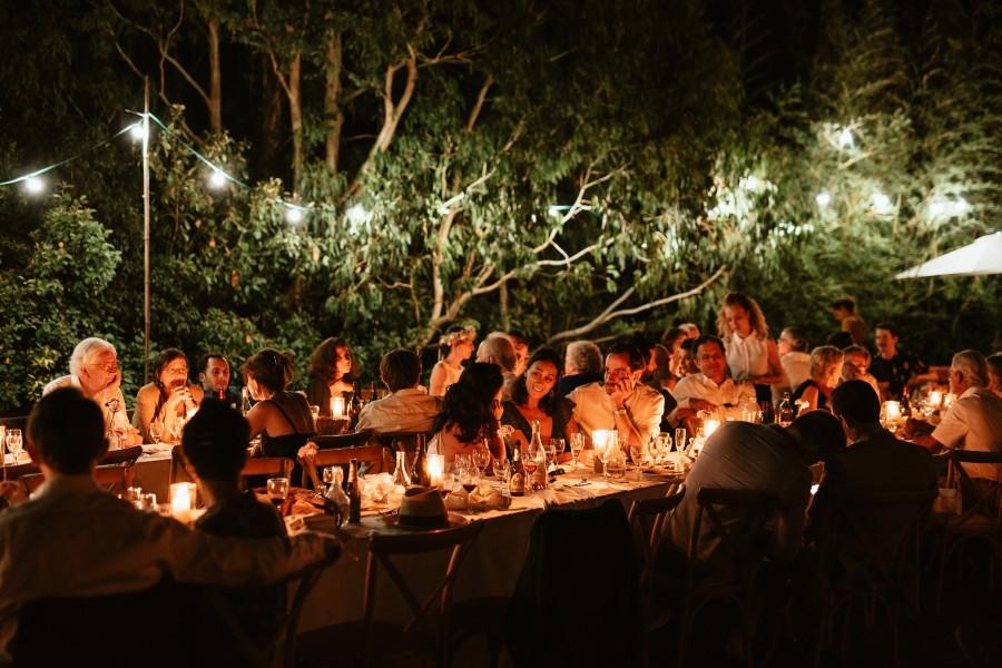 réception nuit mariage extérieur guinguette champêtre