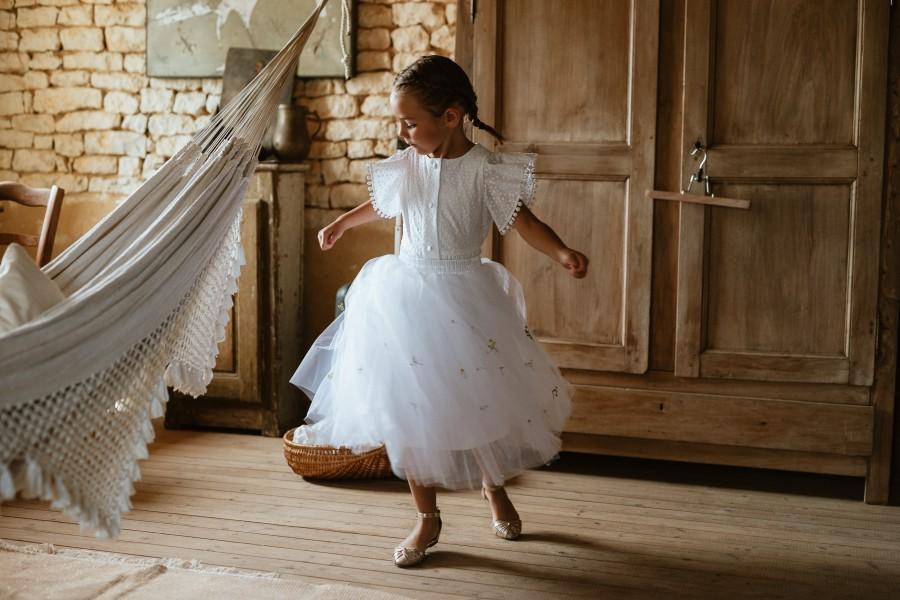 demoiselle d'honneur danse robe tulle hamac