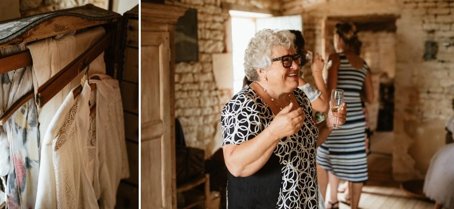 vêtements malle vintage friperie mère mariée sourit